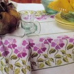 çiçek tarlası kanaviçe modeli