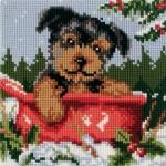 çocuk odaları için kanaviçe köpek tablosu