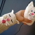 çocuklar ve gençler için kedi motifli bileklik ve mp3 çalar kılıfı