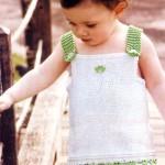 örgü yeşil askılı boydan kız çocuk elbise çeşitleri yeni