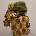 şık renkli motifli haraşo örgü etol örneği