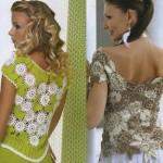 çiçek desenli gül motifli bluz örnekleri