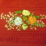 çiçek desenli kurdela nakışları