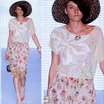 çiçek desenli tığ işi dantel bluz dizaynları