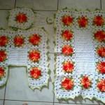 çiçek motifli klozet takımı model