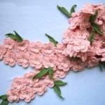 çiçek ve yaprak desenli fular modeli