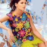 çiçekli yazlık bluz modeli