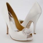 önü taşlı gelin ayakkabısı