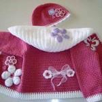 örgü bebek ceket ve el işi şapka örnekleri