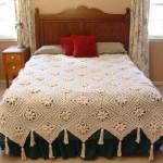 örgü yatak odası yatak örtüsü modelleri