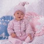 şık bebek hırka ve bere modelleri