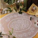 şık oval masa örtüsü örnekleri