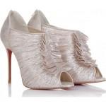 Saten Fırfırlı Gelin Ayakkabı Modeli