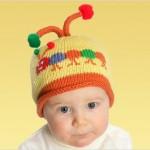 ağaç desenli turuncu bebek şapkası modeli