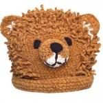 ayıcıklı kahverengi bebek şapkası modeli