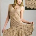 bal köpüğü renkli triko elbise modeli