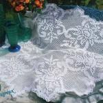 beyaz çiçek motifli konsol modeli