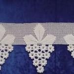 beyaz üzüm salkımlı havlu kenarı modeli