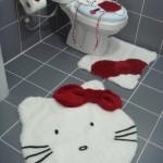 beyaz kedili klozet takımı modeli