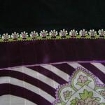 beyaz lila boncuk oyası örneği