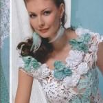 beyaz nil yeşili kolsuz dantel bluz modeli