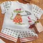 beyaz pantalonlu örgü bebek bluzu modeli