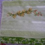 boncuklu kurdela nakışı havlu ve dantel kenar örnekleri modelleri
