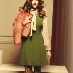 ceviz yeşili elbise modeli