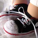 converse desenli bebek patik modeli