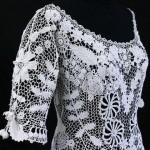 dantel ipinden tığ işi beyaz bluz