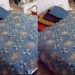 dantel motif birleştirme yatak örtüsü