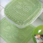 dantel yeşil klozet tasartım örneği