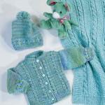 ebrulü bebek battabiye hırka şapka takımı örneği
