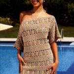 ebrulü triko elbise örnek