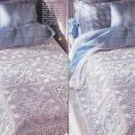 el işi dantel beyaz yatak örtüsü