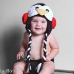 el yapımı tığ işi penguen şapka