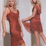 floş dantel elbise modeli
