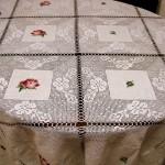 gül motifli dantel masa örtüsü modeli
