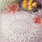 güzel beyaz dantel konsol örtüleri