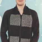 gri siyah saç örgü erkek atkı modeli