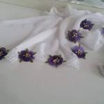 iğne oyası çiçek motifli