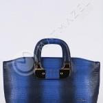 iki renkli kısa saplı çanta örneği