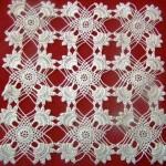 küçük çiçek motifli dantel salon takımı