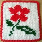 kırmızı çiçekli beyaz lif örneği