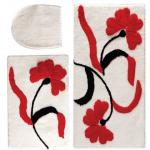 kırmızı çiçekli klozet takımı modeli