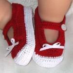kırmızı beyaz bebek patik modeli