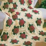 kırmızı gül desenli koltuk örtüsü modeli