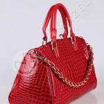 kırmızı rugan çanta dizaynları