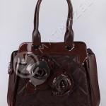 kahverengi çiçekli çanta örneği