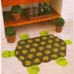 kaplumbağa şeklinde örgü paspaslar